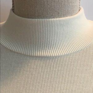 Garage Tops - Garage Ribbed mock neck white top-Large